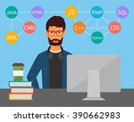 programming code. web software... | Shutterstock .eps vector #390662983