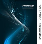vector wave abstract design | Shutterstock .eps vector #390697123