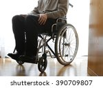 disabled elderly sitting in a...   Shutterstock . vector #390709807