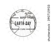 earth day holiday poster with...
