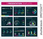 set of infographic presentation ... | Shutterstock .eps vector #390722677