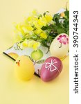 close up of chocolate easter... | Shutterstock . vector #390744343