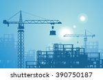 construction site | Shutterstock .eps vector #390750187