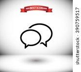 chat speech vector icon