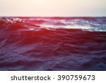 Sea Wave Close Up At Sunset ...