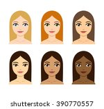 young women with different skin ...