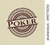 poker with rubber seal texture | Shutterstock .eps vector #390774253