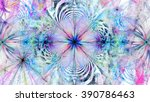 abstract floral like star with... | Shutterstock . vector #390786463