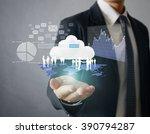 businessman with financial... | Shutterstock . vector #390794287