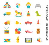 toys collection isolated on... | Shutterstock .eps vector #390795157
