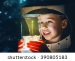 child is dressed in an... | Shutterstock . vector #390805183