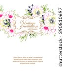 vintage delicate invitation... | Shutterstock .eps vector #390810697