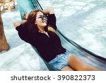 young beautiful girl in... | Shutterstock . vector #390822373