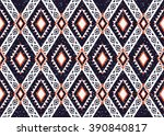 geometric ethnic oriental... | Shutterstock .eps vector #390840817