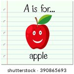 Flashcard Letter A Is For Appl...