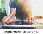 website designer working... | Shutterstock . vector #390871747