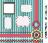 set for scrapbooking  frames ... | Shutterstock .eps vector #390880387