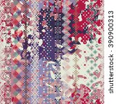 abstract art grunge seamless... | Shutterstock .eps vector #390900313