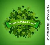 abstract bright green clover... | Shutterstock .eps vector #390902767