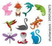 animal logos | Shutterstock .eps vector #390919873