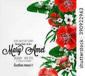 wedding invitation with...   Shutterstock .eps vector #390922963