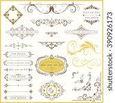 vector set of ornate... | Shutterstock .eps vector #390926173