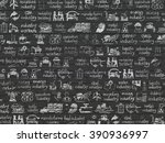 grunge background  black brick... | Shutterstock . vector #390936997
