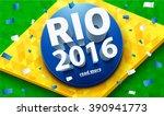 illustartion of rio 2016 games... | Shutterstock .eps vector #390941773