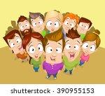 vector cartoon illustration of... | Shutterstock .eps vector #390955153