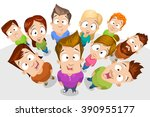 vector cartoon illustration of... | Shutterstock .eps vector #390955177