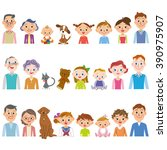 third generation 3 family set | Shutterstock .eps vector #390975907