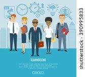 business people team concept.... | Shutterstock .eps vector #390995833