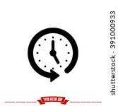 clock arrow icon vector...   Shutterstock .eps vector #391000933