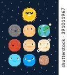 pixel art characters  solar...