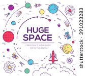 set of huge universe... | Shutterstock .eps vector #391023283