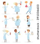 vector cartoon image of a set... | Shutterstock .eps vector #391036603