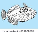 sea creatures. line art....   Shutterstock .eps vector #391060237