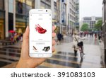 online shopping with smart... | Shutterstock . vector #391083103