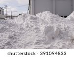 Snow Piles And Home