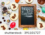 Colorful Happy Easter Baking...
