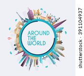 planet earth travel the world.... | Shutterstock .eps vector #391104937
