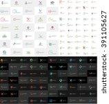 huge mega collection of... | Shutterstock .eps vector #391105627