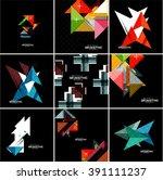 vector geometrical banner set   ... | Shutterstock .eps vector #391111237
