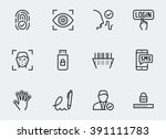 secure identity verification... | Shutterstock .eps vector #391111783