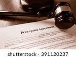 prenuptial marriage agreement... | Shutterstock . vector #391120237