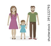 illustration of happy family... | Shutterstock .eps vector #391122793