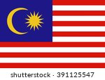 a flag of malaysia | Shutterstock .eps vector #391125547