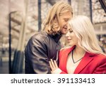 couple passionated moment in an ... | Shutterstock . vector #391133413