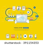 concepts for business analysis... | Shutterstock .eps vector #391154353