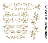 Set Of Elegant Floral Elements...